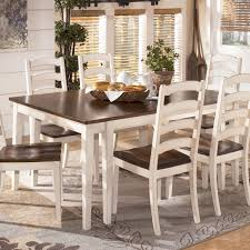 Two Toned Dining Room Sets Rectangle Dining Room Table With White Burg Two Tone Cottage