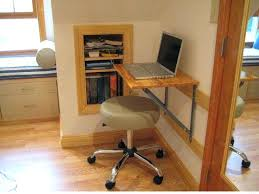 small folding desk table small and easy wood wall mounted folding computer desk design with light