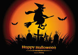 halloween pictures to download happy halloween illustration with a spooky witch silhouette