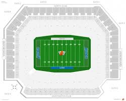 Detroit Lions Seating Chart Seating Chart