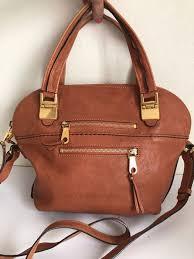 chloé cognac leather handbag shoulder bag