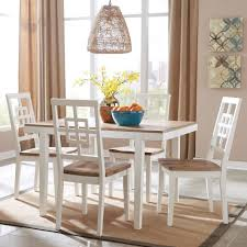 signature design by ashley brovada 5 piece rectangular dining table set item number