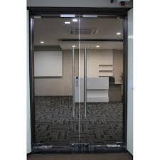 frameless 12mm tempered glass door