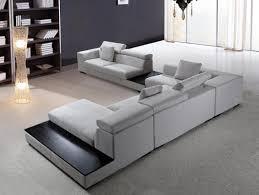 modern sectional sofa grey microfiber vg fort  fabric  ftfpgh