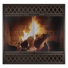 complete reface glass fireplace door