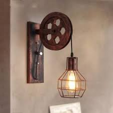 pulley lighting. Image Is Loading Loft-Industrial-Retro-Wall-Lamp-Single-Head-Lifting- Pulley Lighting