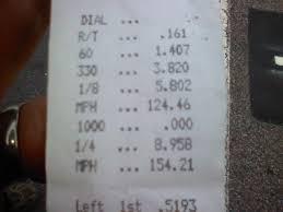 2005 Pontiac GTO F-1R Procharger 1/4 mile Drag Racing timeslip ...