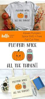Available in png and vector. Kawaii Pumpkin Spice Svg 14 Free Fall Cut Files