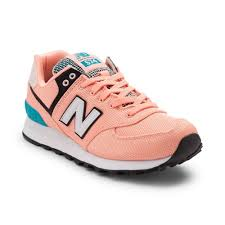 new balance shoes 574. alternate view: womens new balance 574 athletic shoe - coral/turquoise shoes