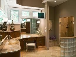 corner cabinet for bathroom. Neutral Spa Bathroom With Glass Brick Walls Corner Cabinet For E