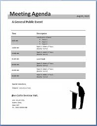 Microsoft Word Meeting Agenda Template Mesmerizing 48Formally Used Agenda Templates Formal Word Templates
