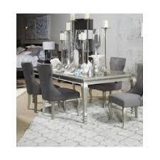corne silver finish dinette set ashley furniture corne silver finish dining room furniture