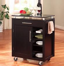 Kitchen Cart With Doors Kitchen Best Kitchen Carts With Storage Drawer And Shelves Awe