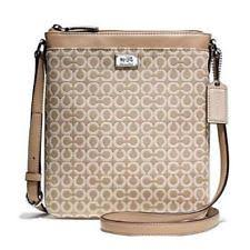 NWT COACH Madison OP ART Needlepoint Swingpack 49746 Warm Khaki -- IN  PLASTIC