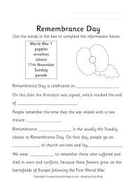 the best remembrance day activities ideas  remembrance day fill in the blanks more