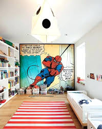 decoration kids bedroom ideas with themed spiderman room decorations