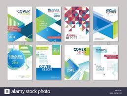 Company Catalog Design Templates Set Of Blue Cover Brochure Flyer Annual Report Design