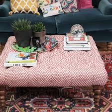how to style up your footstool or coffee table