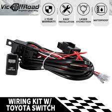 Led Light Bar Switch Wiring Toyota Heavy Duty Led Light Bar Wiring Loom Harness 40a Switch Relay Kit 12v