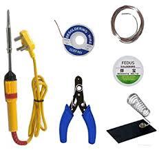 TONI 6 in1 <b>Electric Soldering Iron</b> Stand <b>Tool</b> Wire Stripper Kit 25W ...