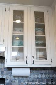 Diy glass cabinet doors Cut Confessions Of Serial Diyer How To Add Glass To Cabinet Doors