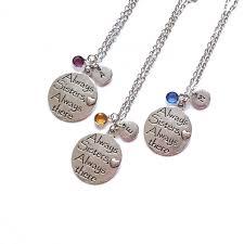set of 3 best friend necklace sister