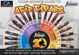 Cigar Chart Poster Famous Smoke Shop And Cigar Advisor Release The Ultimate