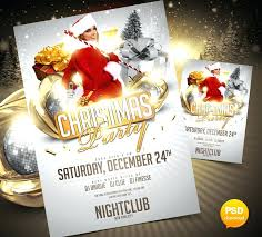 Party Flyer Template By Free Christmas Psd Templates Photoshop