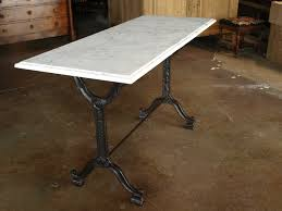 french bistro table sets for sale. french bistro console table with cast iron base and marble top image 4 sets for sale