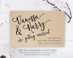 Save The Date No Photo Calligraphy Save The Date Postcards