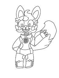 Funtime Foxy Coloring Pages Printable Sheets Mangle On Toy Nightmare