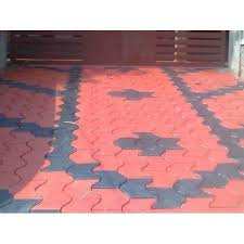 sharda construction and manpower offering red and black concrete interlocking floor tiles 12 14 mm at rs 11 piece in gurgaon ha get best