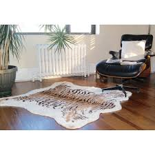 awesome luxe natural tiger multi coloured cowhide area rug reviews throughout cowhide area rug modern