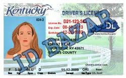 Driver Psd License Kentucky Template