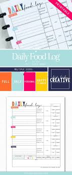 Printable Daily Food Log Is A Great Way To Keep Track Of