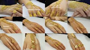 Gold Ring Bracelet Designs Gold Rings Chain Bracelets Panjangla Designs With Weight
