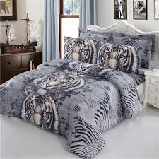 3d digital print bedding set animal tiger and leopard print duvet cover bed sheets pillowcase home decor quilt cover d30 bedding sets bedding sets 3d