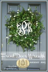 front door decor summerFRONT DOOR WREATH SUMMER 2013  StoneGable