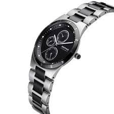 bering men s black ceramic steel chronograph watch watches bering men s black ceramic steel chronograph watch 32339 742