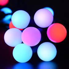 qedertek 50 led 16 4ft rgb ball lights color change globe fairy string light for party decorations tree wedding decor garden patio home outdoor