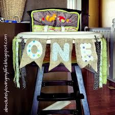 diy little boy highchair banner for first birthday