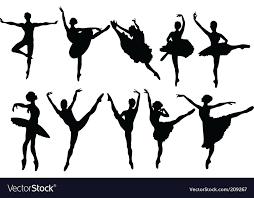 ballet silhouette vector ballerina silhouettes vector 209267