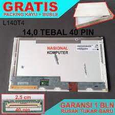 Layar LCD LED Laptop 14.0 14 Tebal 40 Pin
