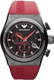 emporio armani watch chronograph red rubber strap 48x44mm ar6105 men s fashion › accessories › watches › red rubber watches emporio armani watch chronograph red rubber strap 48x44mm ar6105