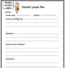 unit planner template for teachers lesson plan template free lesson plan template lesson plan template