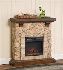 main image for stacked stone electric infrared quartz fireplace heater