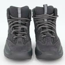 Adidas X Yeezy Kanye West Graphite Grey Suede Desert Rat Season 6 Mens Boots