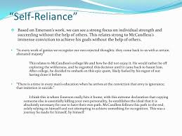 "into the wild emerson powerpoint ""self reliance"" based on emerson s"