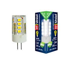 <b>LED</b>-<b>JC</b>-<b>220</b>/<b>3W</b>/<b>4000K</b>/<b>G4</b>/<b>CL GLZ09TR Лампа</b> светодиодная ...