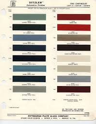 Chevy Stock Chart 1963 Chevrolet Paint Chips 1963 Chevy Truck Paint Chips